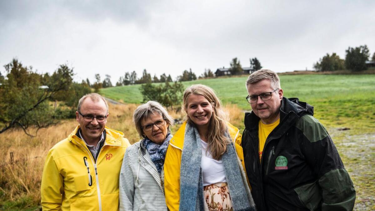 Hemsedal er ein av berre to kommunar i Hallingdal med rein KrF-liste til årets kommuneval. F.v. Ingar Nergård, Margunn Høydal Mythe, Ida Lindtveit Røse og Helge Hafsås.