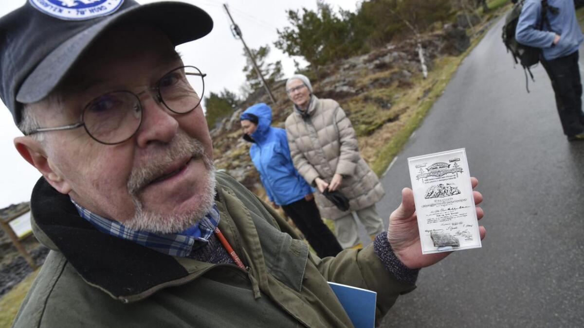Abildgaard syner fram turistgull frå Bømlo som mellom anna vart seld på messer for steinsamlarar