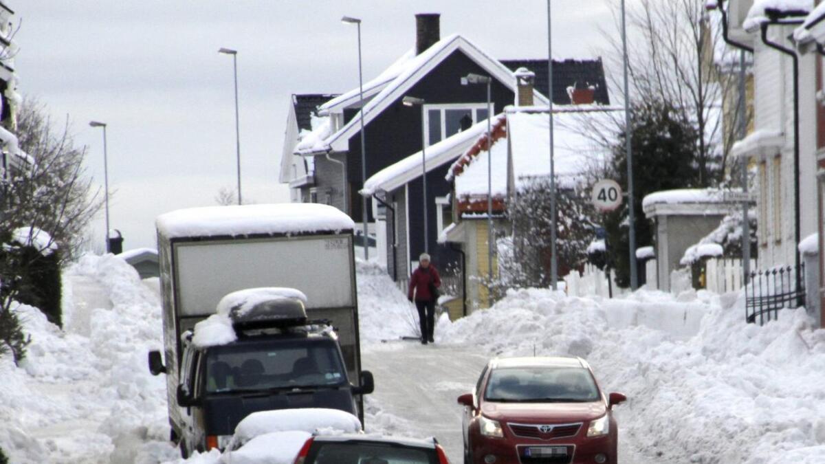 Skien kommune fikk mange klaget etter snøfallet sist vinter.