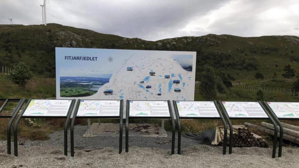 Ved Olstjødno i Fitjar.