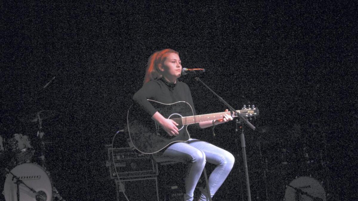 Emilie Instøy Sellvold var med på UKM på Husnes.