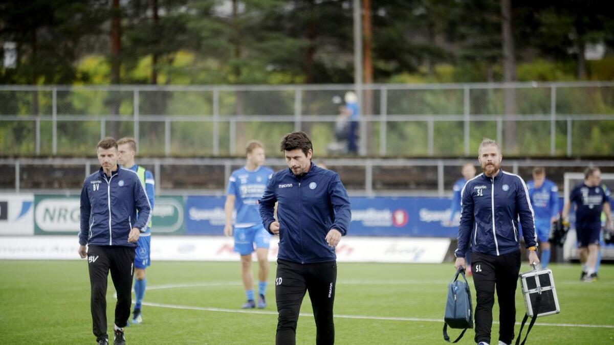 Notodden-trener Kenneth Dokken var skuffet over at det ikke ble poeng hjemme mot Sogndal. BEGGE