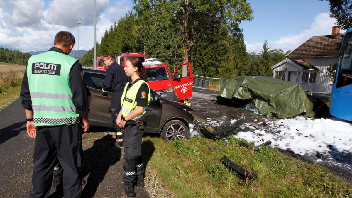 Ulykken skjedde rundt en kilometer fra Bø sentrum i retning Lunde.