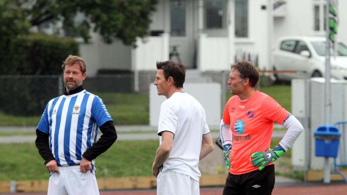 De gamle Odd-spillerne Kurt Semb, Frode Johnsen og Svein Roger Dahlen var med på Polly Cup 2019.