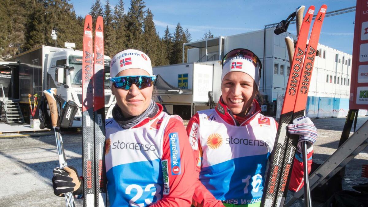 Tiril og Lotta Udnes Weng er på plass i Seefeld, og i dag går de VM-sprinten.