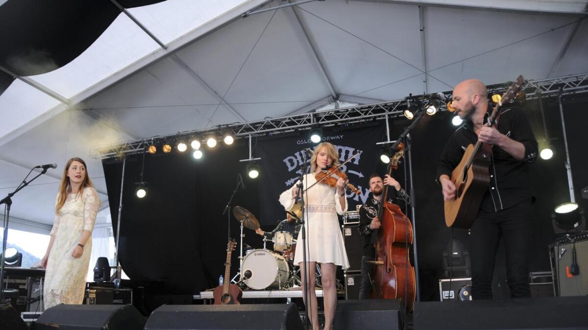 Marie Tveiten og The Northern Belle stod på scena på Countryfestivalen i 2015. I år er bandet på Dyrskun. arkiv