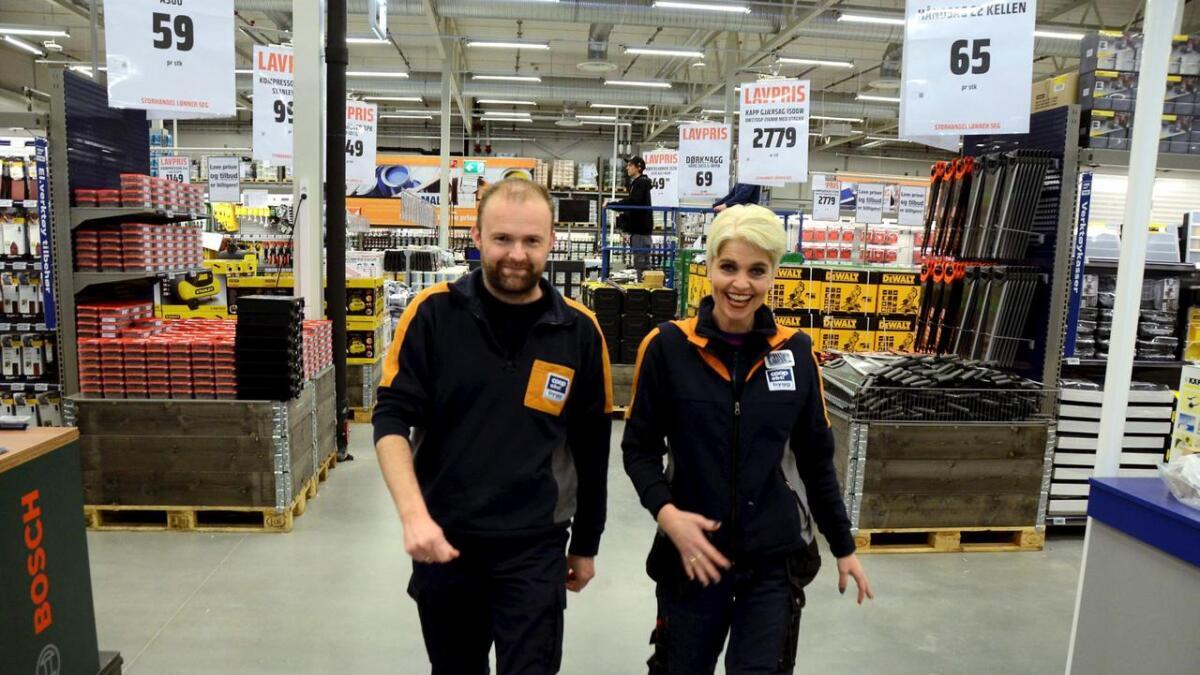 Rune Høvås og Anja Mirielle Svendsen gleder seg til ny og enda større Coop bygg i Skien.