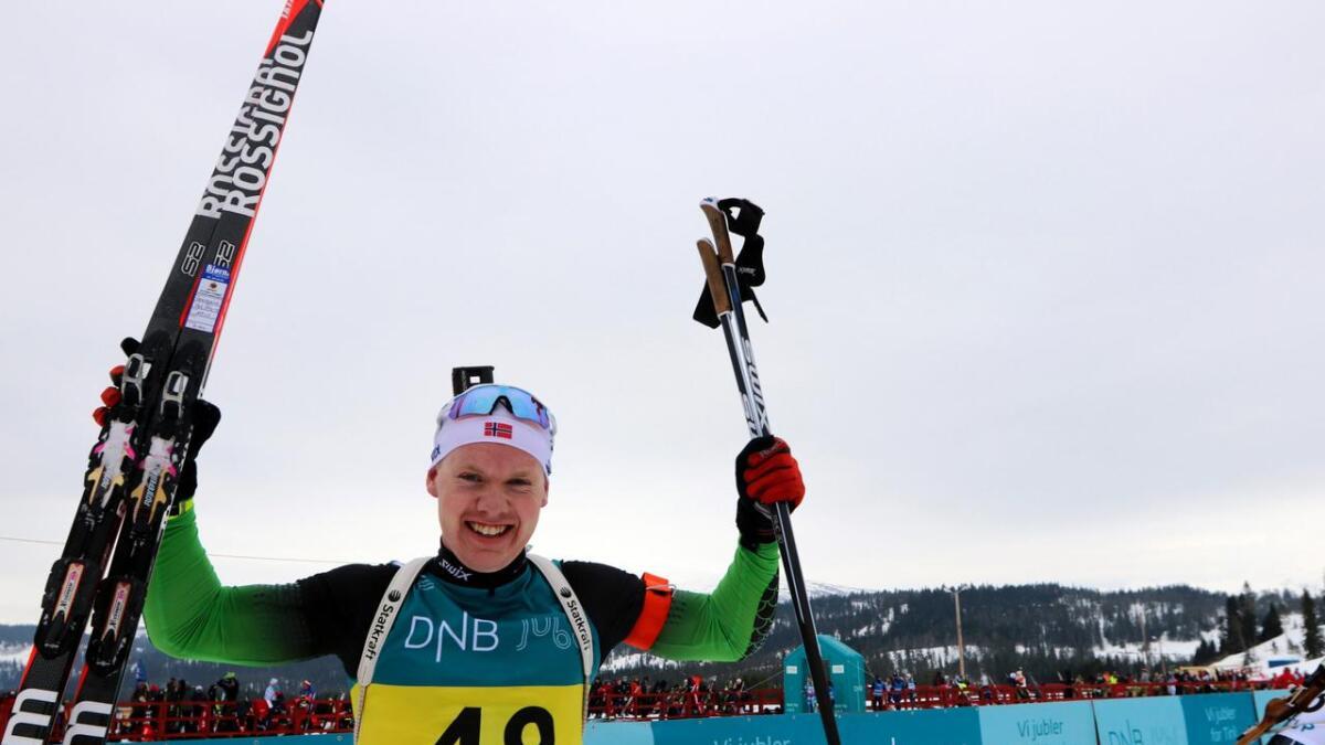 Martin Femsteinevik vann sitt fyrste senior-NM fredag.