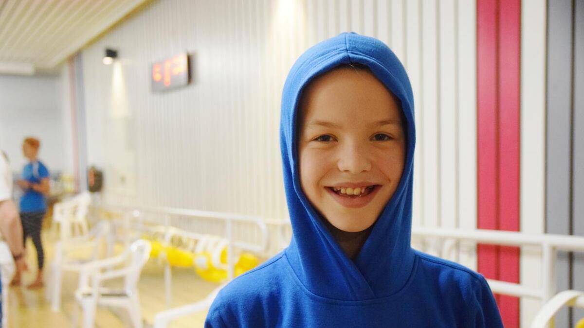 Live Kristiansen (11) fra Sortland har svømt i ett år, og er allerede bitt av basillen.