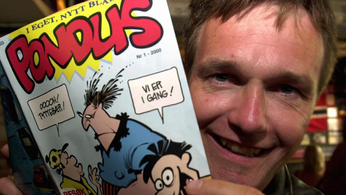 Pondus og Frode Øverli, her i god gammel årgang, fra da figuren fikk eget blad i 2000.