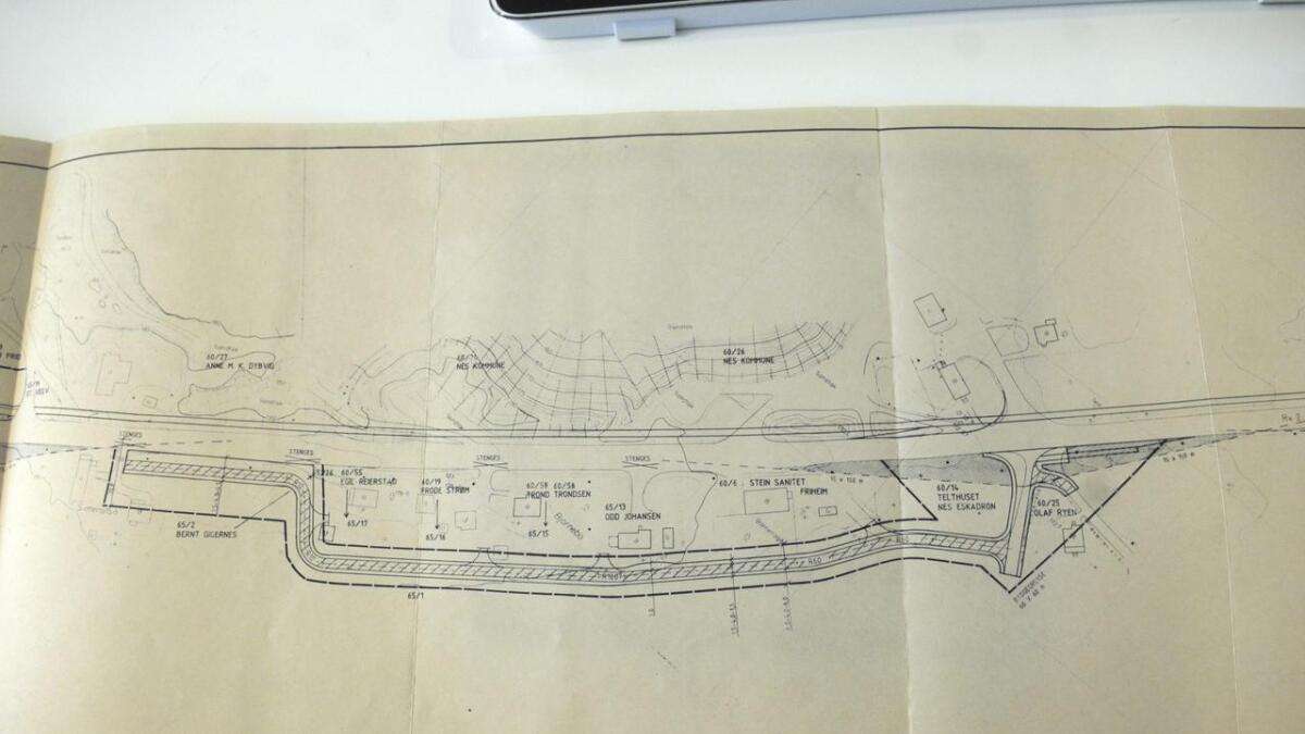 Denne planen for Kulmoen ble vedtatt i 1983, men intet har skjedd siden den gang.