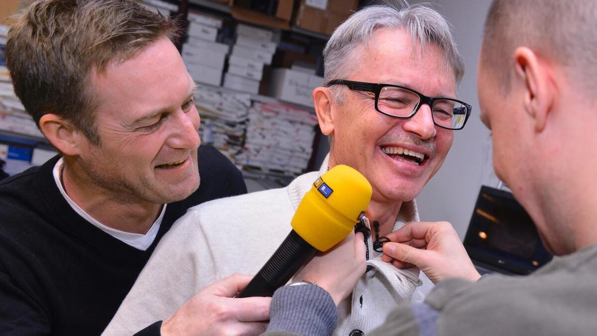 Basse har også vært i fokus hos programleder Jon Almås. Bilder fra Agderpostens arkiv