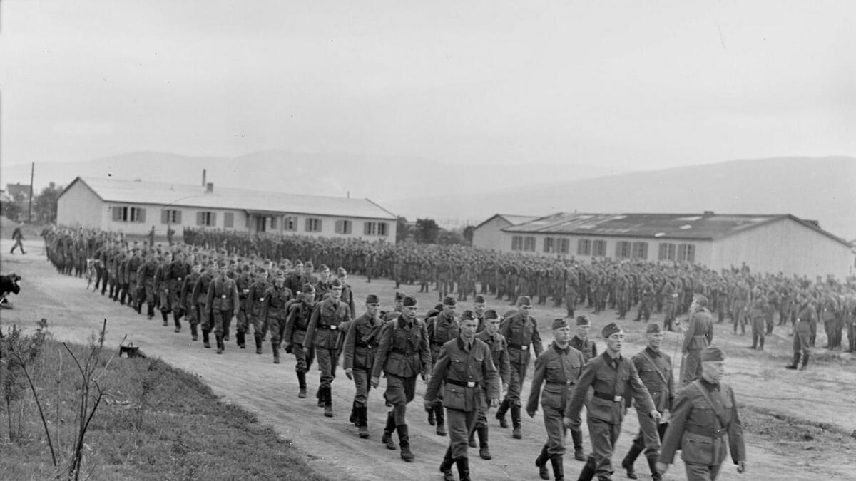 Den norske legion før avreise frå Gulskogen i juni 1941.