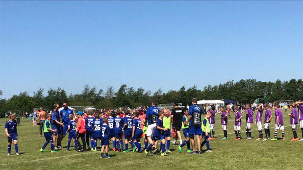 De unge Vindbjart-spillerne leverte gode prestasjoner under cupen.alle