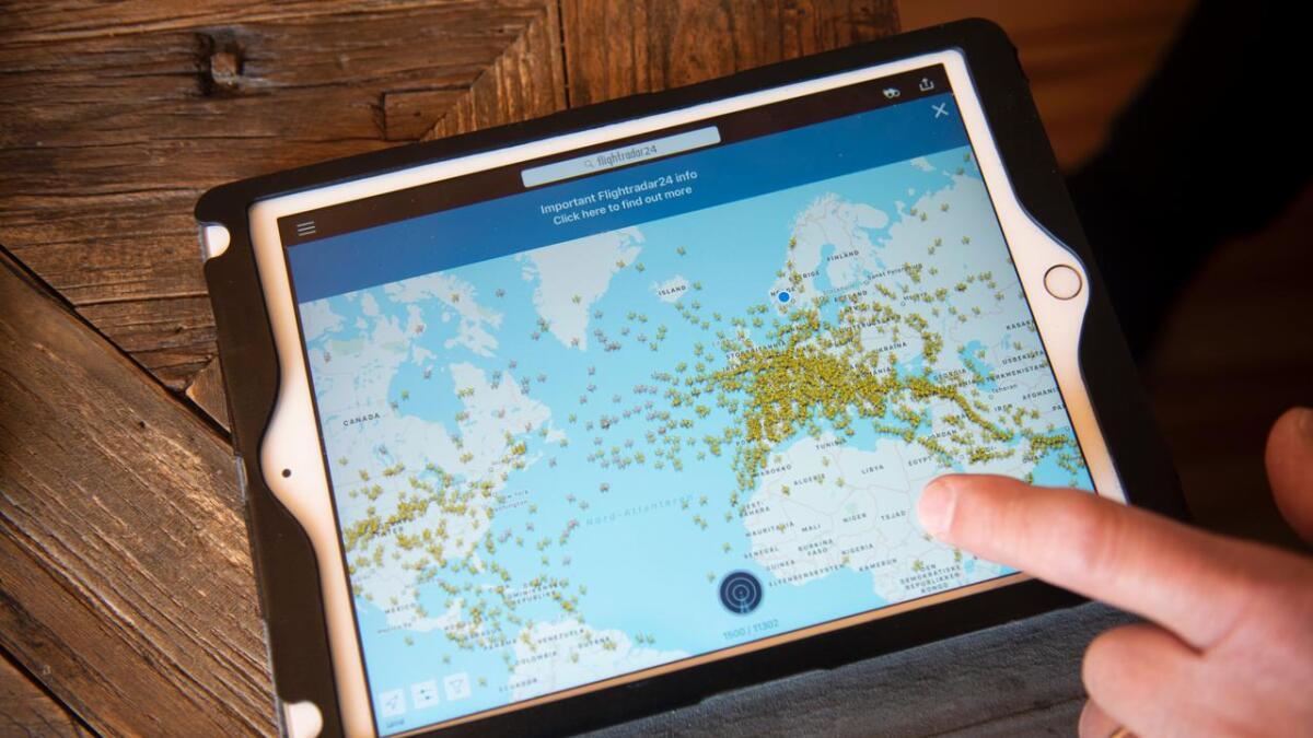 Appen flight24 syner kva fly som er i lufta over heile verda. Der kan ein følgje med på kva for fly som susar høgt over oss.
