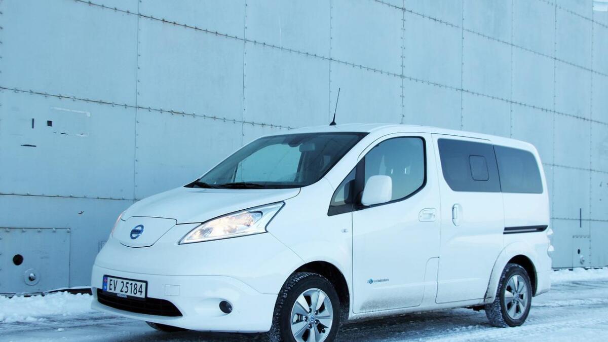 Nissan e-NV200 Evalia er en av to elbilmodeller som per i dag kan by på sju seter.