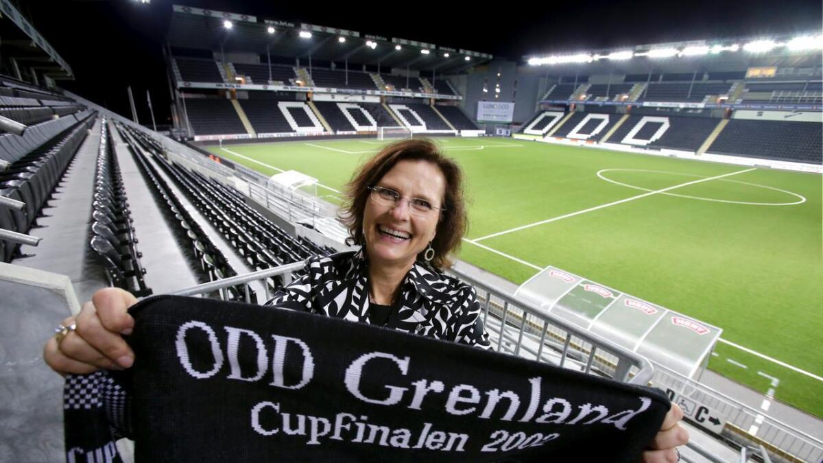 Kjersti Stordalen forteller at det ikke blir solgt cupfinalebilletter i oktober. Unntaket er sponsorene, som kan legge inn bestillinger ut fra sine kvoter. 8