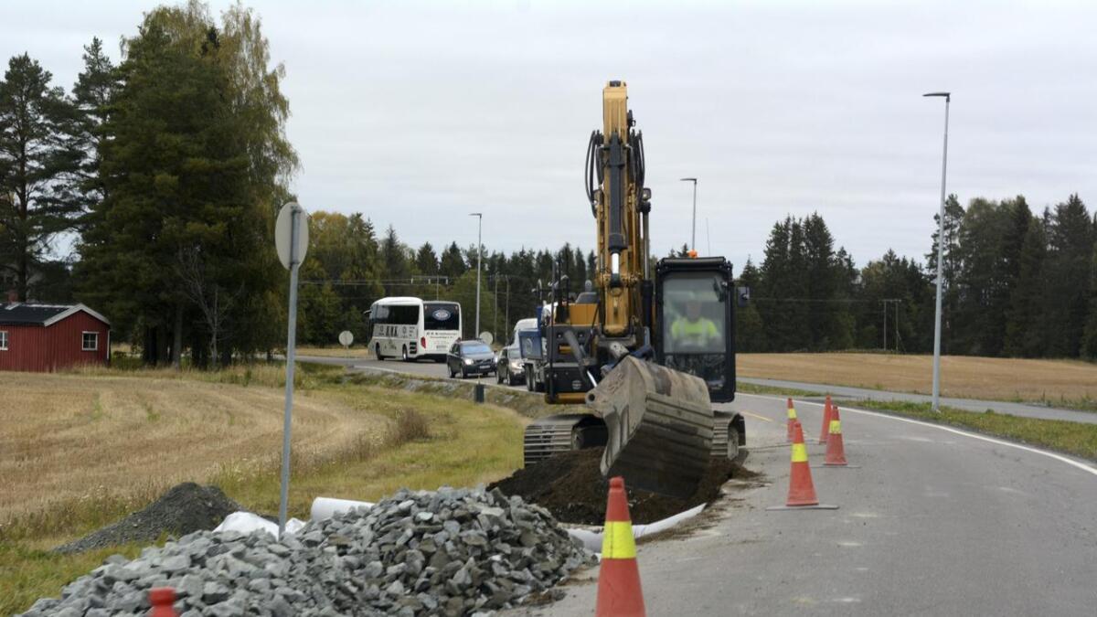 Arbeidene på Aulivegen skal gjøres ferdig i inneværende uke.