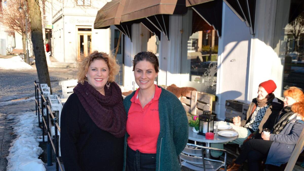 Susanne Irgens Ommundsen på Drømmeplassen (t.v.) og Mia Christina Nilsen på Café Victor.