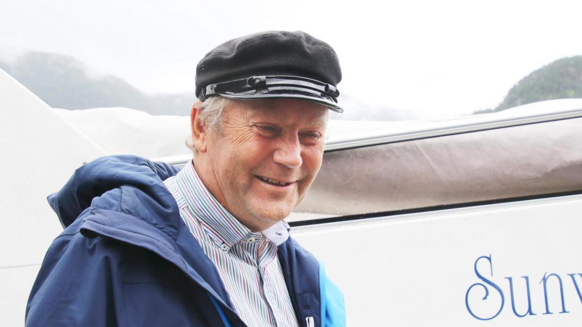 – Me snakkar ikkje om masseturisme på ruta me planlegg, seier styreleiar Oddvin Håland i Osterøy ferjeselskap.