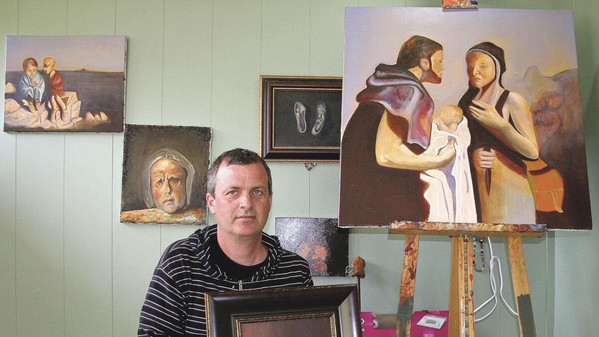 Odd Nerdrum har vore ei stor inspirasjonskjelde for Os-kunstnaren Bjørn J. Meidel Hansen. (Arkivfoto)