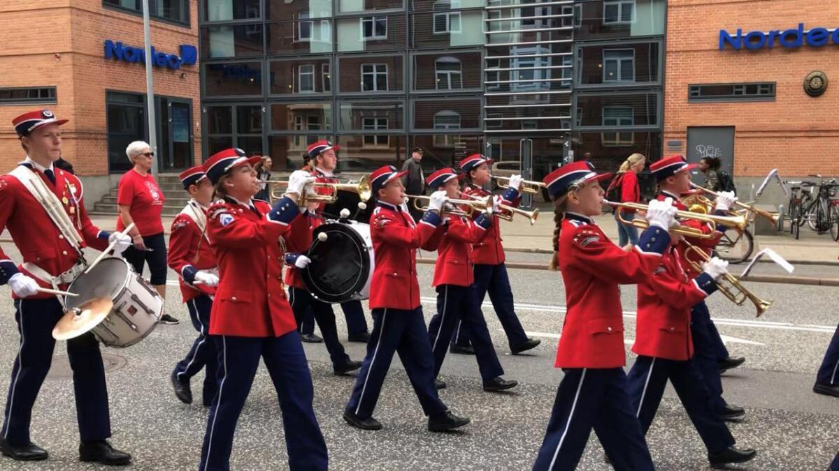 Korpset deltok på sin første marsjkonkurranse. Det ga mersmak.