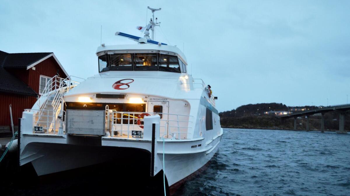 MS Hanøy innstiller alle avganger inntil videre.