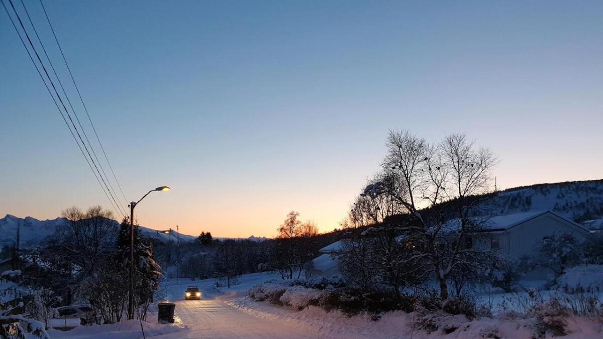 Det var klart og kaldt da dette bildet ble tatt 8. november på Sortland.