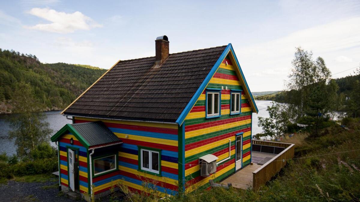 Dette er ikke Legoland. Dette er Gjerstad.