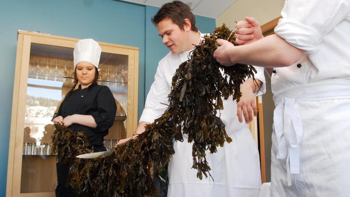 Halvar Ellingsen klippet snora da ny-lokalene til restaurant og matfag på Melbu ble åpnet torsdag 25. mars i 2010. Nå blir tilbudet lagt ned.