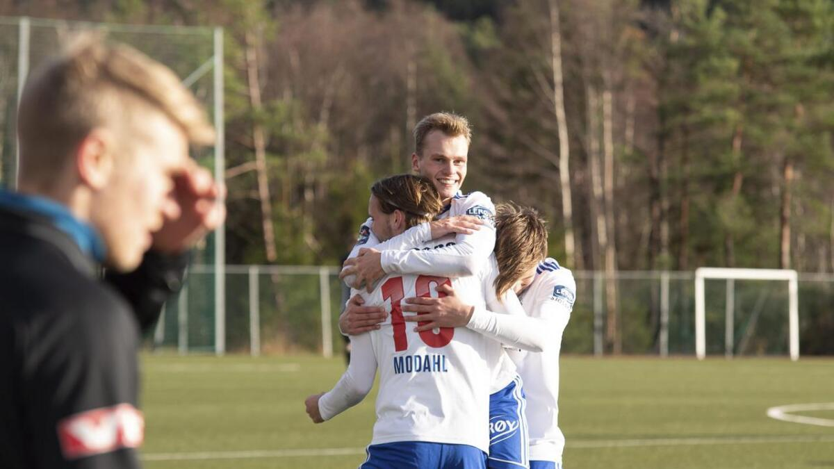 Joachim Westrheim skåra to mål i lokaloppgjeret.