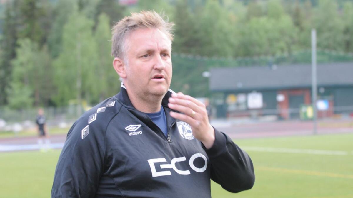 HFK og trenar Jan-Eirik Thorberg tapte mot Steinberg laurdag.