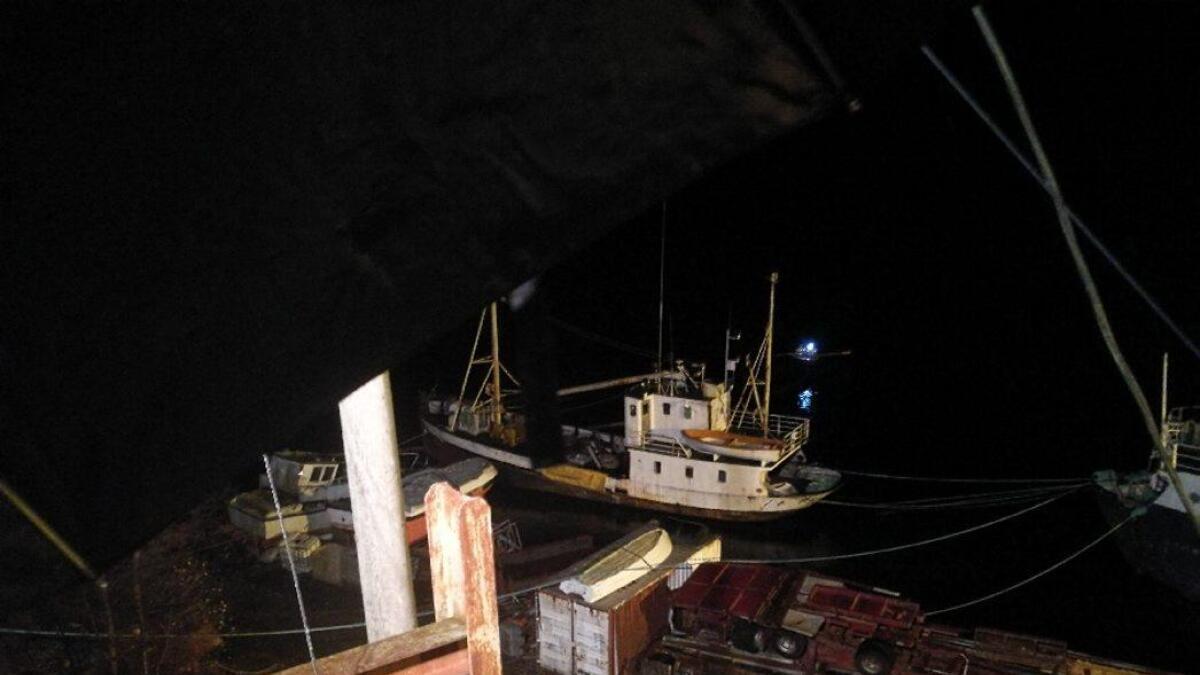 Nok ein båt har gått ned ved kai ved motorverkstaden på Stamnes.
