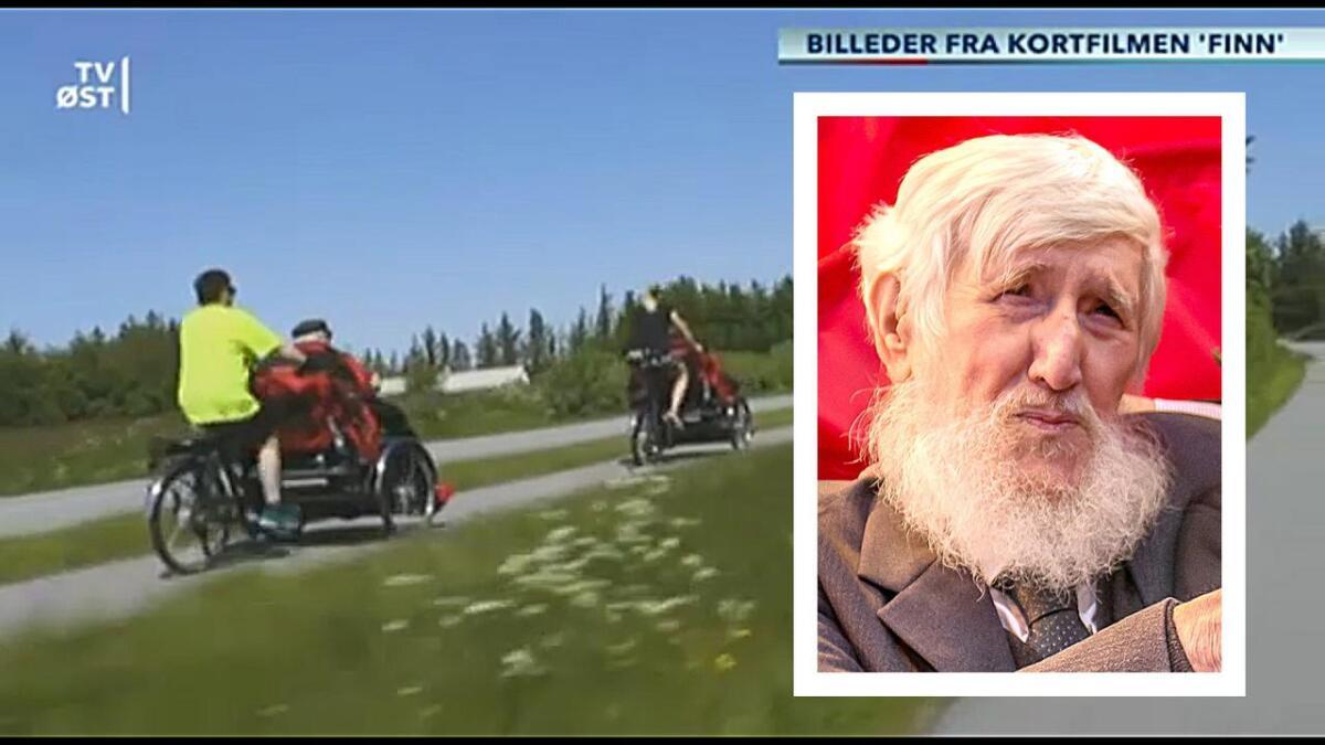 Danske TV Øst viser et lite klipp fra kortfilmen «Finn», om pensjonert brolegger Finn Flodin Larsen (82)(innfelt), som er en av 18 eldre fra et pleiehjem i Danmark som drar på fem dagers sykkeltur til Arendal. Nå skal Finn til Hollywood, hvor filmen deltar på en filmfestival nå i april.