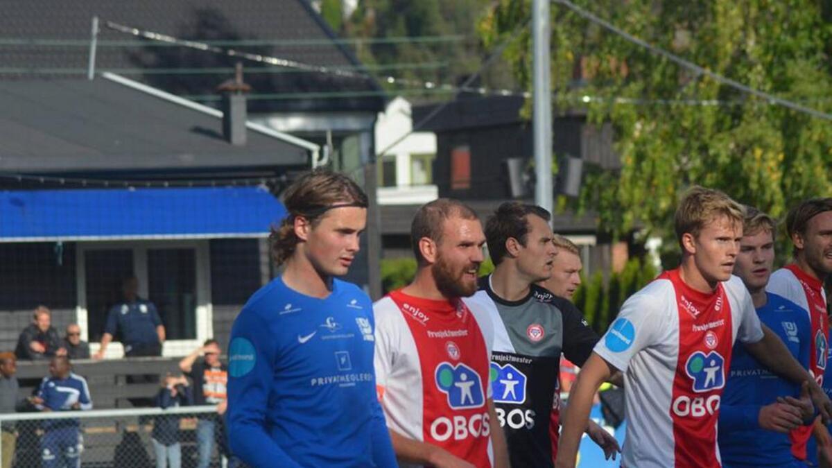 Jesper Taaje har markert seg som midtstoppar i andredivisjon. (Foto. Kjelsås Fotball)