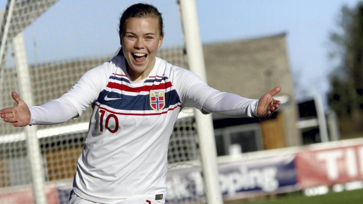 Olaug Tvedten er blant spelarane som representerer Norge i Nordisk Turnering U23.