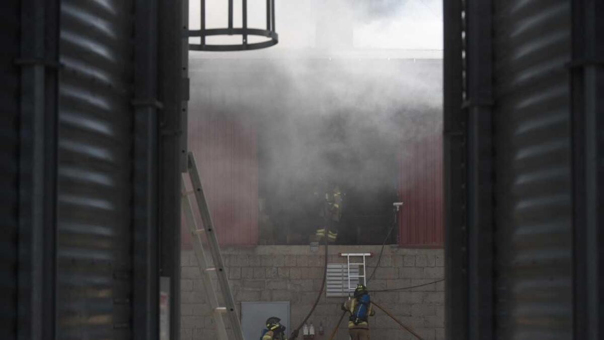 Det brenn hjå pelletsfabrikken i Kleivi.