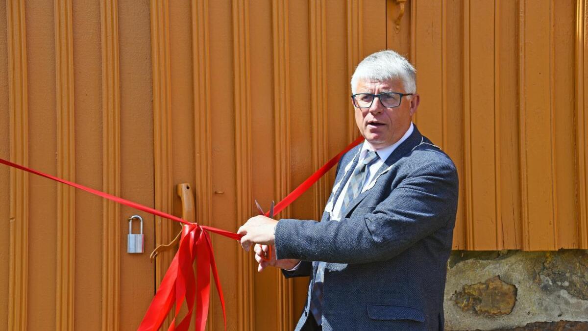 Ordfører Arne Thomassen sto for den offisielle åpningen.