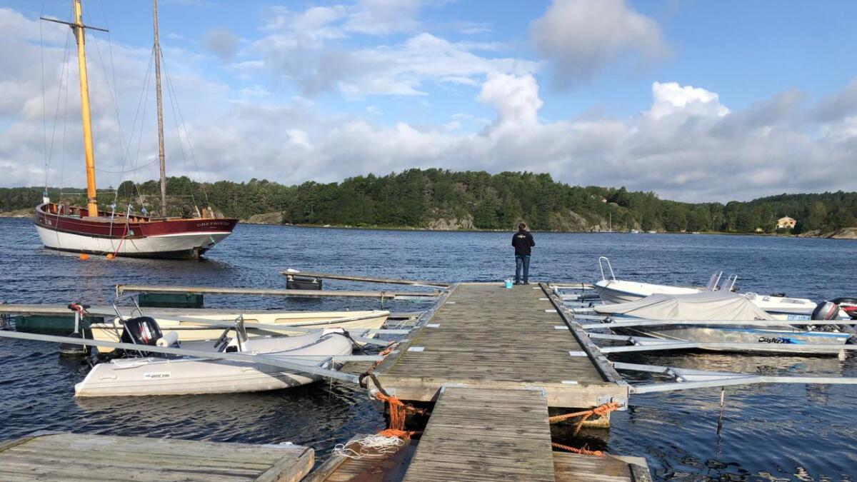 Arendal Herregaard har eierskap til dette bryggeanlegget, med 10 båtplasser, i Hove Leirsenter. Det foreligger ingen skriftlig avtale eller tinglysing.