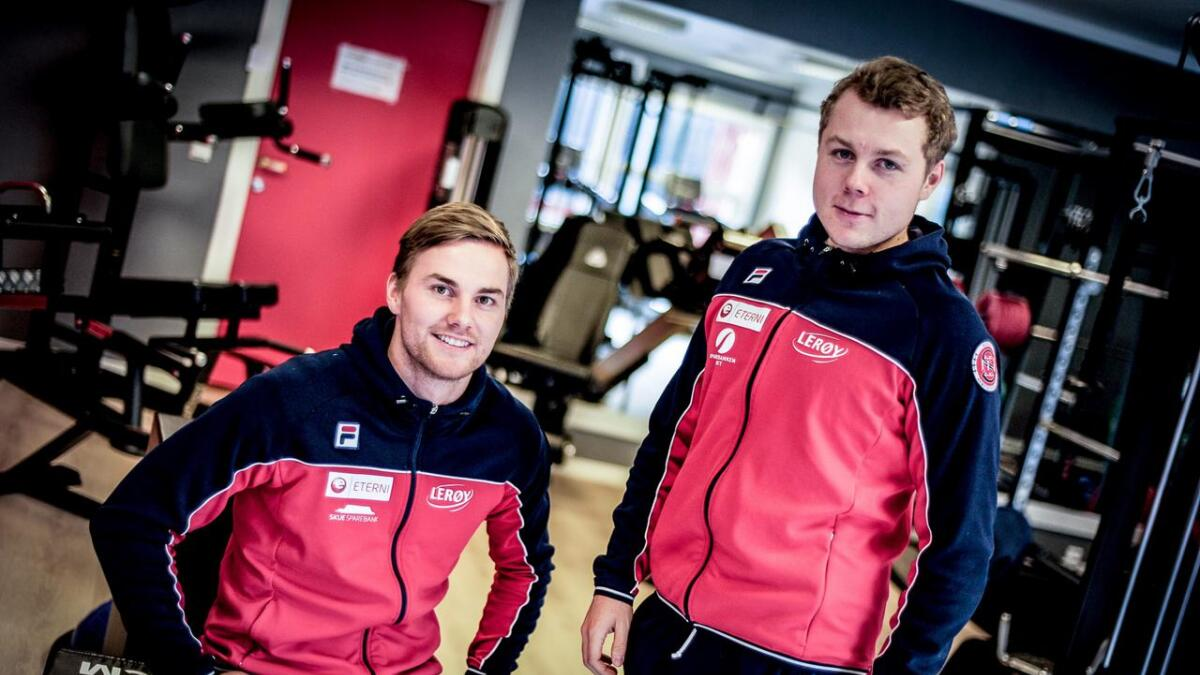 Henrik Fagerli Rukke og Kristian S. Reinton trivst med å vere på landslag saman.