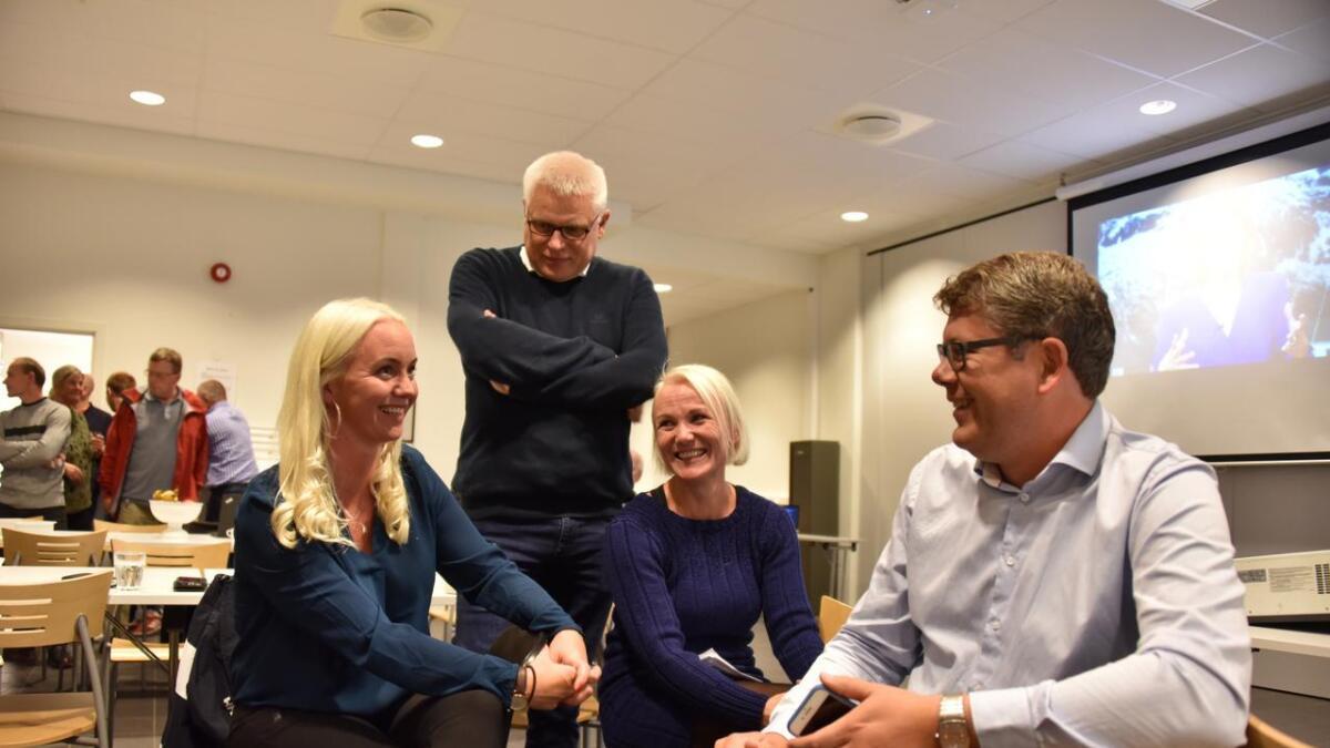 Gyro Heia (Sp), Arild Windsland (H), Linda Hye (Ap) og Anders Topland (Sp).