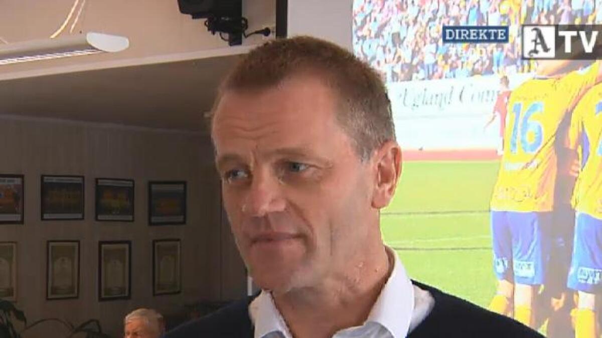 Jervs nye hovedtrener Arne Sandstø intervjues av Agderposten TV.