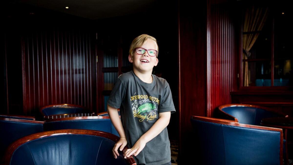 Markus Hansen Moe er sju år gammal og bridgefrelst.