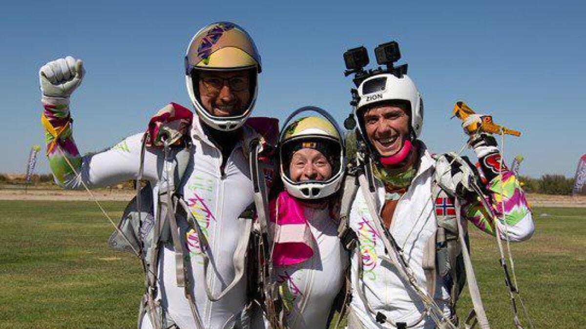 Det norske laget i Freefly, Zion Freefly, tok gull i Arizona, USA. Laget er Anna Moxnes, Kristian Moxnes og Andreas Mosling.
