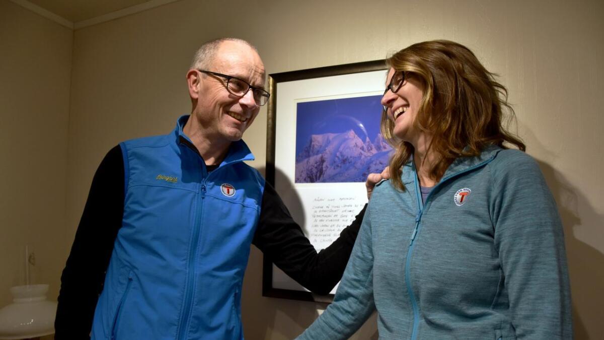Trond Løkke og Ragna Renna gir seg ikke med fjellturer tross skredulykken.