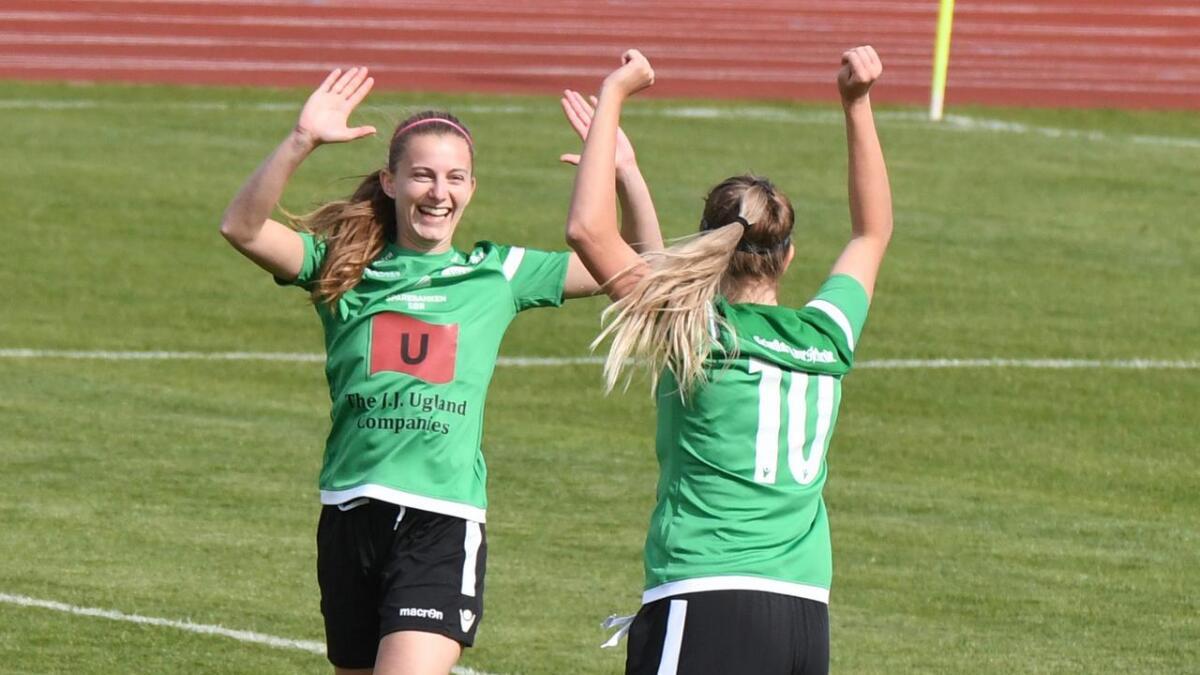 Isabella Hayes kunne smile like bredt etter kampen mot Fløya i dag som det hun gjorde i mai.Arkiv