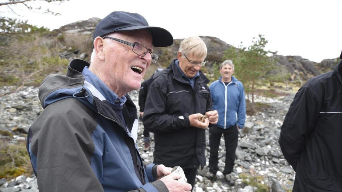 – Veldig interessant seminar, og spennande å tenkje på korleis landskapet har utvikla seg, at her var havbotn. Det er veldig spennande geologi her på Bømlo, seier stordabu Bjørn Angell Bergh.