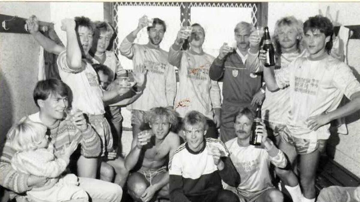 Feiring var på sin plass etter klubbens første opprykk i 1987.  88