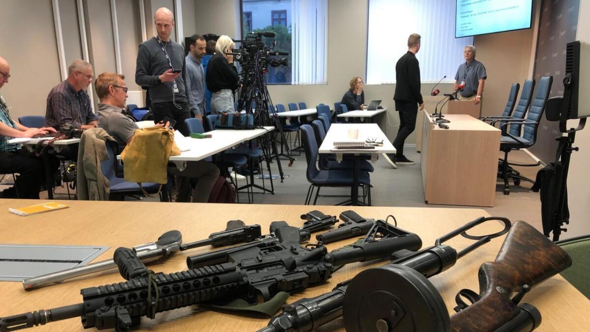 Politiet i Sør-Øst holdt pressekonferanse i Vestfold onsdag.
