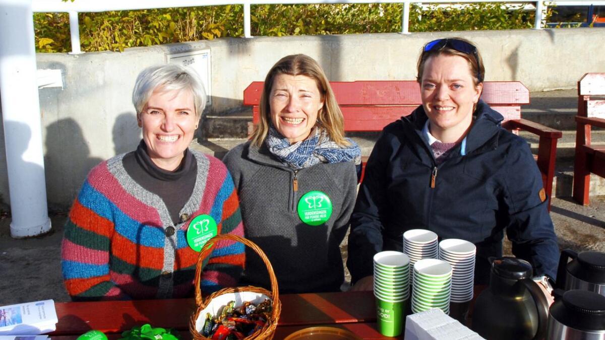 F.v. Rebecca Thuv-Jenssen, Therese Elvevold og Ann Katrin Pedersen.